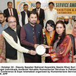 Society President Receives Humanitarian Service Award